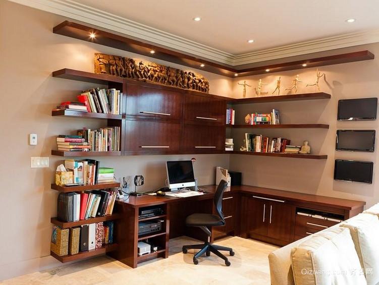 大户型书房别致宜家书柜装修效果图