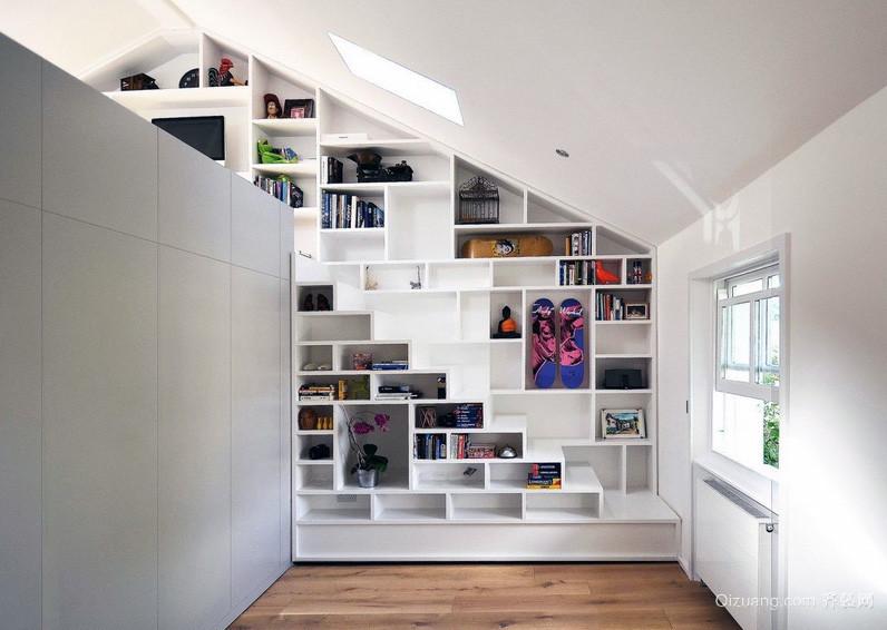 欧式风格大户型斜顶阁楼装修设计效果图