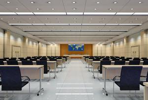 2016现代都市大会议室室内吊顶装修效果图