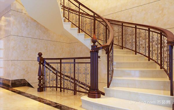 曼妙身姿:混搭风格别墅旋转楼梯设计图