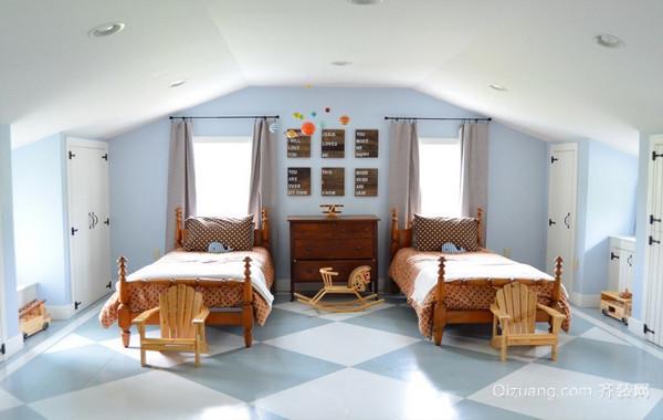 这样也不错呦!小阁楼卧室装修样板房