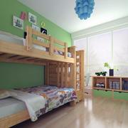 大户型欧式儿童房高低床装修效果图案例