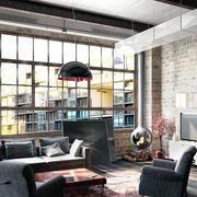别墅型复古风格室内吊顶装修效果图片