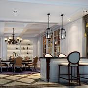 豪华餐厅欧式吧台