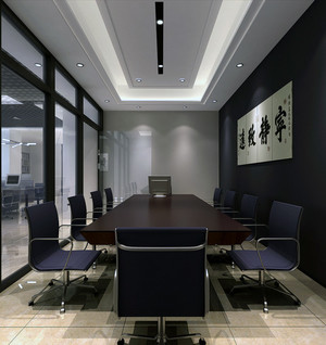 现代都市写字楼室内背景墙装修效果图鉴赏