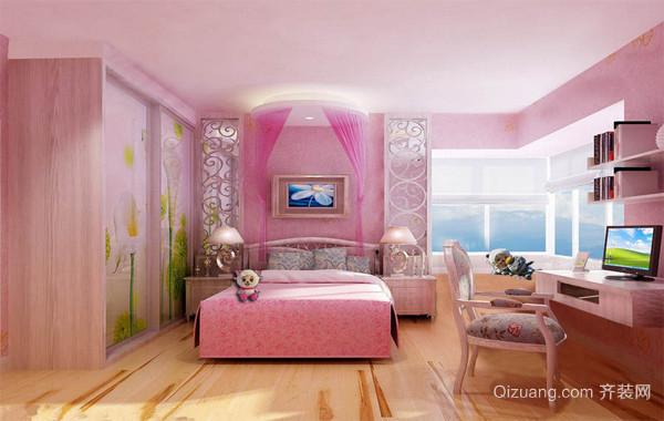 大户型家庭房间设计儿童房背景墙装修效果图
