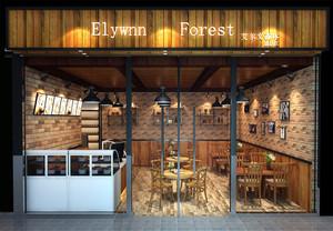 自然风情的42平米奶茶店装修图