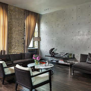 家庭客厅沙发布置