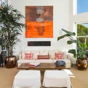 复式楼客厅装饰艺术画