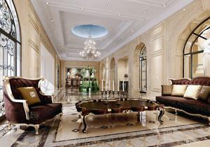 自建别墅现代欧式客厅装修效果图实例