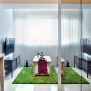 单身公寓客厅窗帘展示