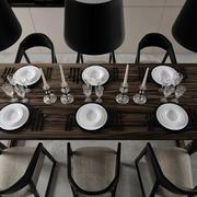 家庭餐厅实木餐桌椅