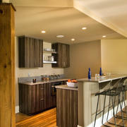 宜家朴素的阁楼小厨房装修设计图