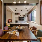 家庭实木餐桌椅欣赏