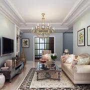 三居室美式风格客厅装修效果图欣赏