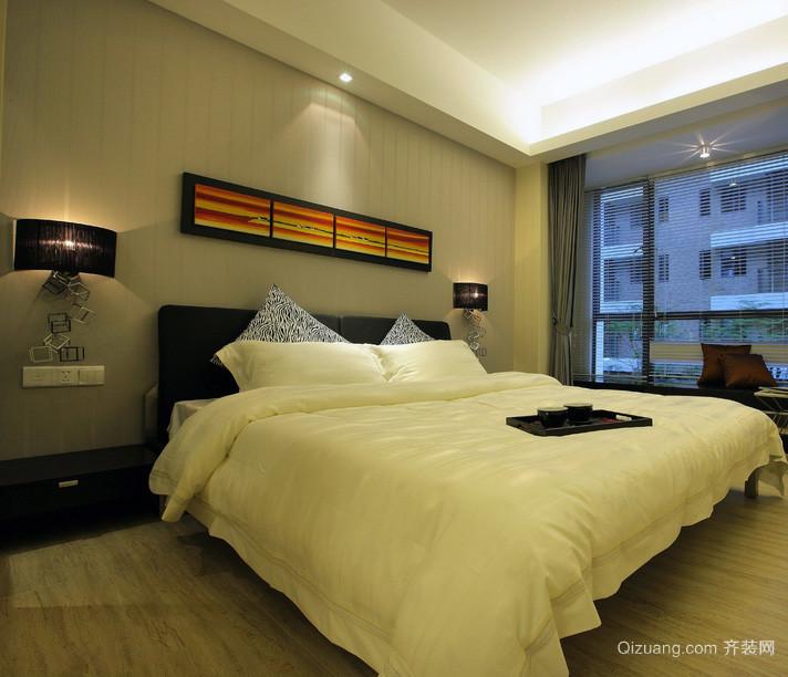 三居室欧式风格新房卧室背景墙装修效果图