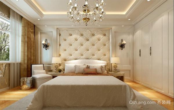 大户型欧式家庭装潢设计卧室背景墙装修效果图