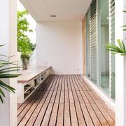 复式楼门厅生态木地板