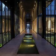 酒店夜晚唯美走廊
