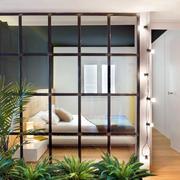 家庭卧室玻璃隔断