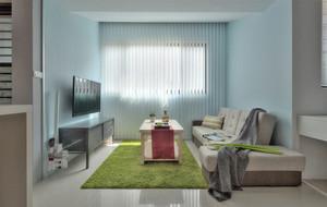 小空间也精彩:50平米单身公寓简约装修图