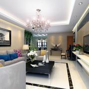 唯美欧式大户型客厅吊顶装修效果图