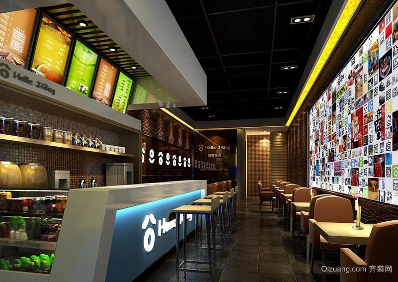 现代60平米奶茶店设计装修图