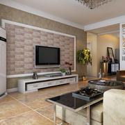 宜家风格80平米客厅影视墙效果图大全
