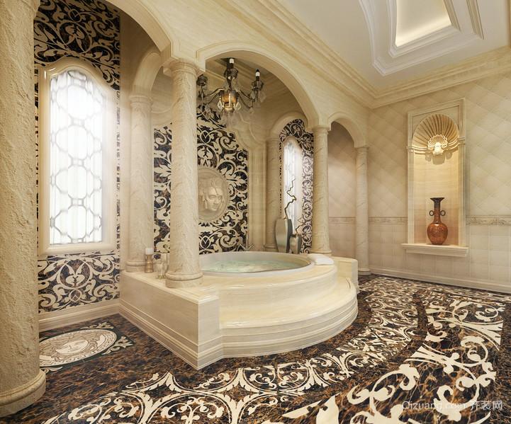 奢华别墅巴洛克风格浴室装修效果图