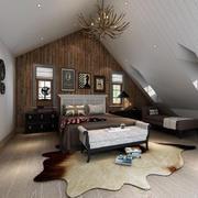 简美风格大阁楼卧室装修设计效果图