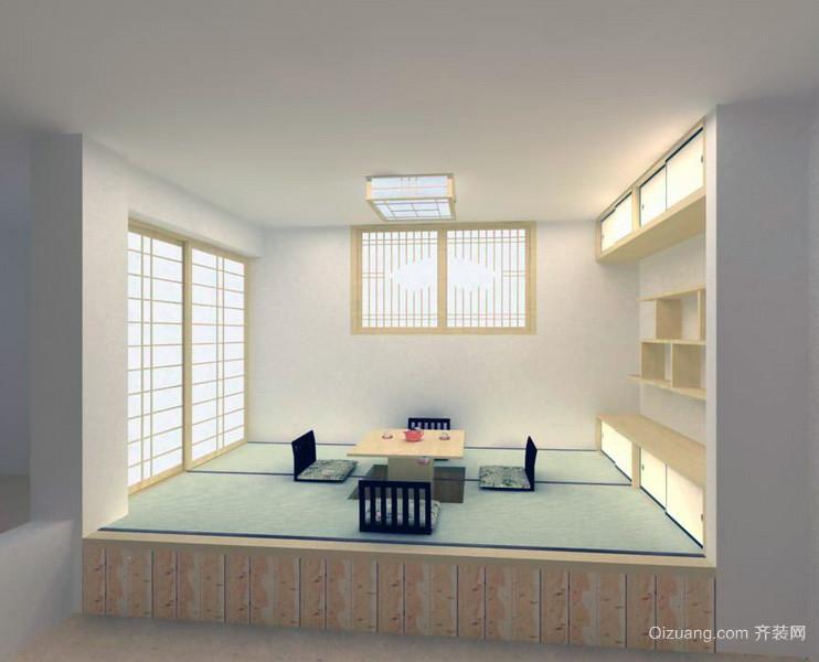 独特的日式风格大户型榻榻米装修效果图