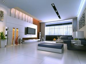 欧式风格单身公寓装饰背景墙装修效果图实例