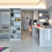 单身公寓瓷砖白色地板