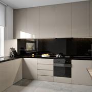 家庭开放式厨房不锈钢橱柜