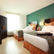 酒店双人间卧室展示