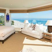 复式楼卧室玻璃幕墙展示