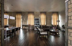 狂放不羁的混搭工业风两居室家庭装修图