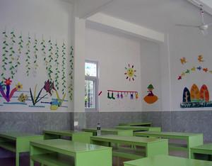2016都市幼儿园教室背景墙装修设计效果图