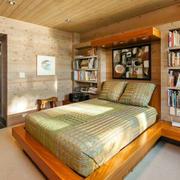 别墅实木卧室榻榻米床