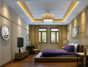 90平米大户型日式风格榻榻米卧室装修效果图