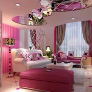 主题小型简欧公寓hello Kitty客厅效果图