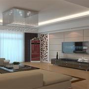 90平米大户型简欧风格客厅室内装修效果图欣赏