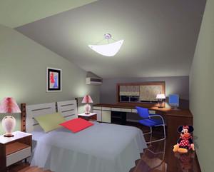 精美舒适的大户型儿童房吊顶设计装修效果图