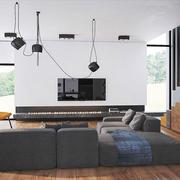 复式楼现代小客厅沙发