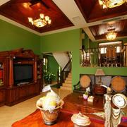 2016错层住宅东南亚风格客厅装修案例