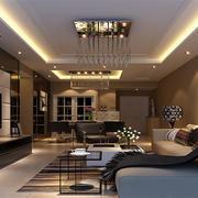 2016二居室现代家装客厅电视背景墙装修效果图