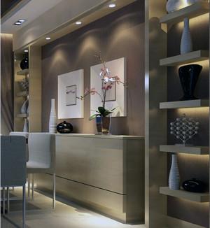 超越经典的大户型欧式餐厅酒柜装修效果图