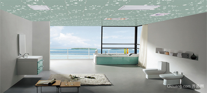 唯美的大户型都市欧式浴室装修效果图