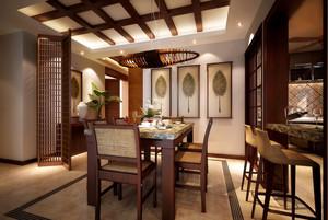 大型别墅东南亚风格餐厅装修案例