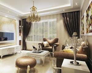 经济实惠小户型简欧风格客厅飘窗装修效果图